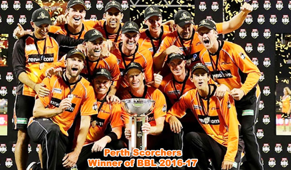 Scorchers winner of BBL 2016/17