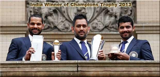India - winner of Champions Trophy 13