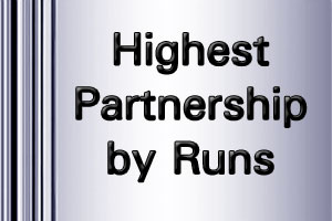 ICC Worldcup Highest Partnership by runs