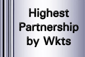 IPL Highest Partnership by wickets