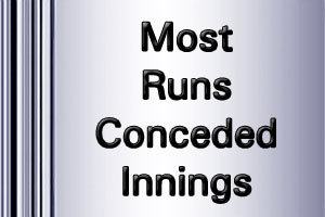 IPL Most Runs conceded innings