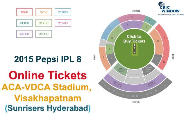 ... Stadium, Visakhapatnam Online Tickets | IPLT20 2015 - Cricwindow.com