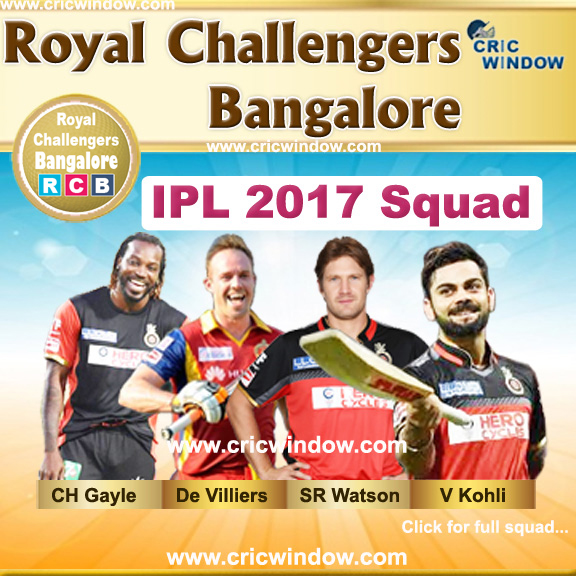 IPL Royal Challengers Bangalore team