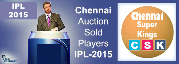 2015 IPL CSK auction sold players list