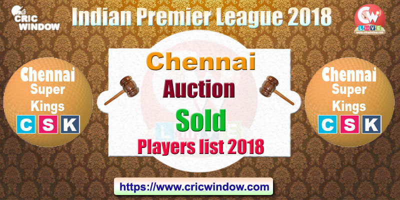 CSK auction players list
