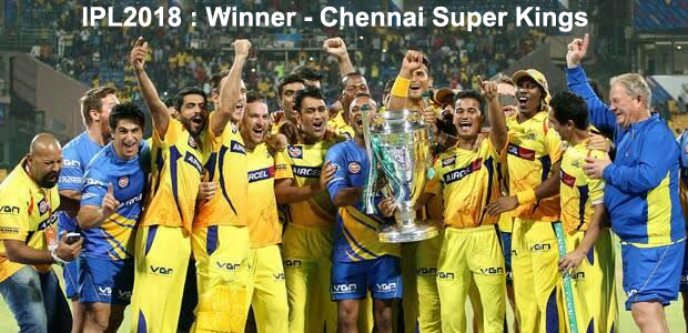 Chennai Super Kings winner of IPL2018
