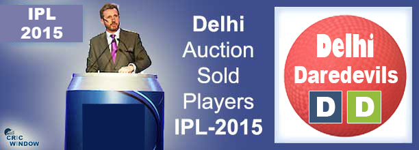 2015 IPL DD auction sold players list