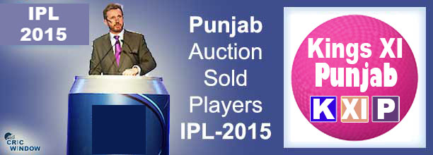 2015 IPL KXIP auction sold players list