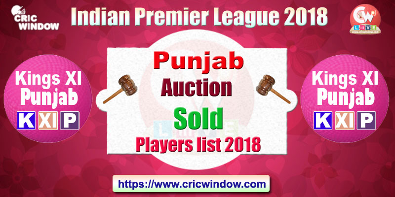 KXIP auction players list