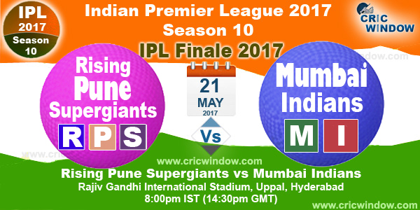 ipl rps vs mi final match 2017