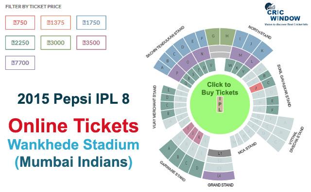 ... Wankhede Stadium, Mumbai Online Tickets   IPLT20 2015 - Cricwindow.com