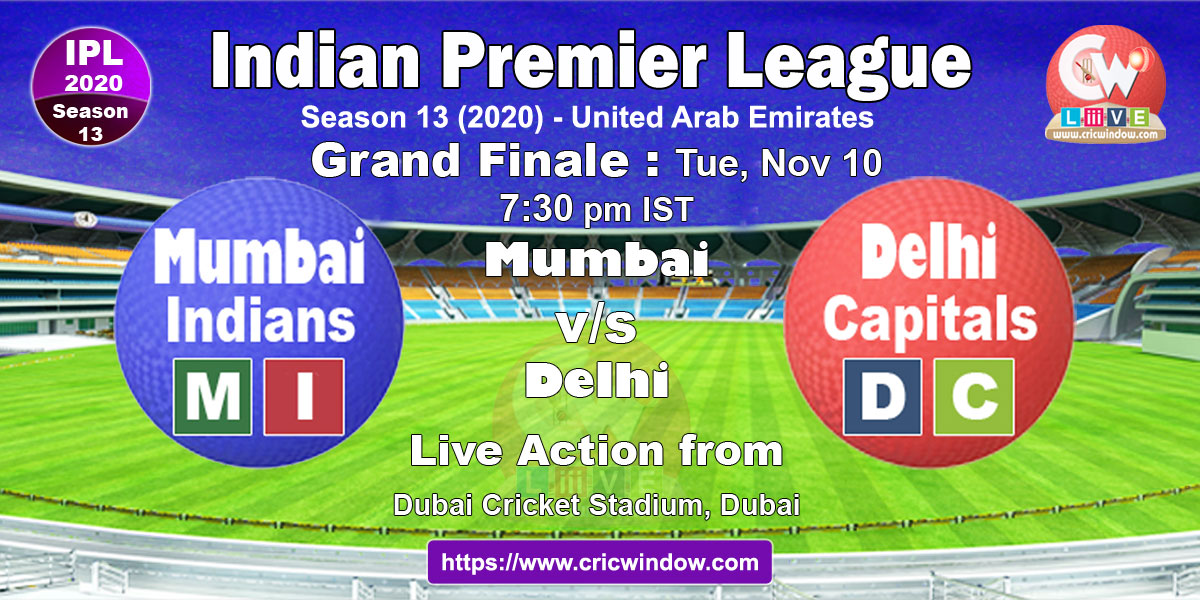 ipl final mi vs dc live stream video