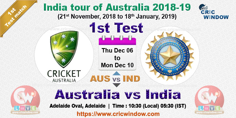1st test Australia vs India live action