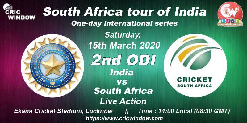 2nd ODI : India vs South Africa live action