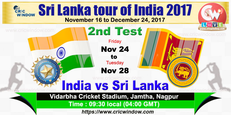 India vs Sri Lanka 2nd Test live action