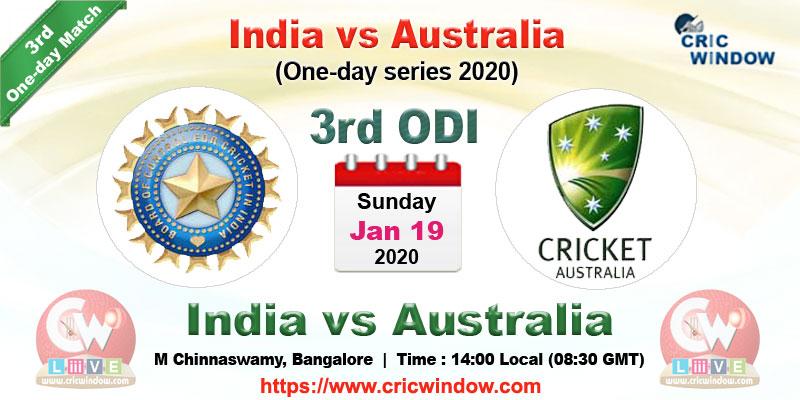 India Vs Australia Odi Series Live Score Videos Schedule News 2020