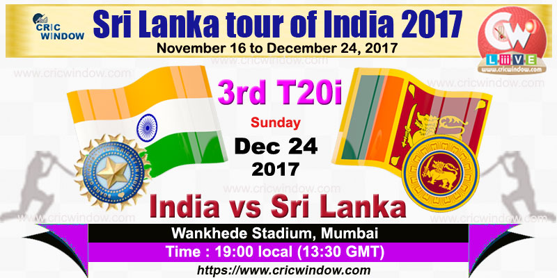 3rd t20i India vs Sri Lanka live action