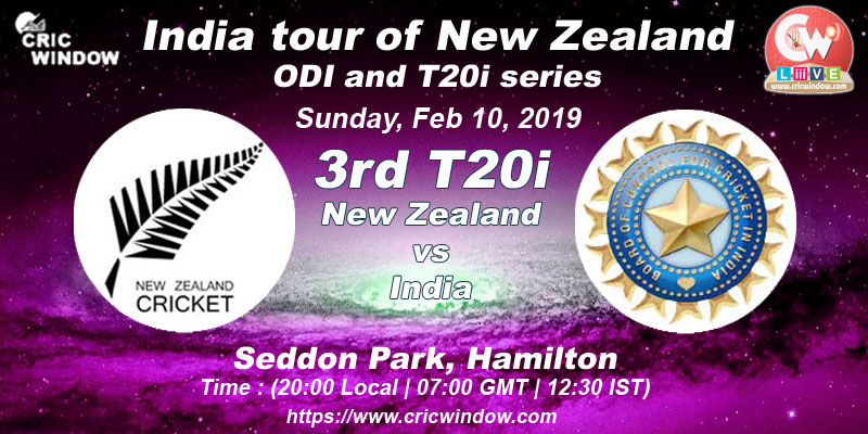 3rd t20i : New Zealand vs India live action