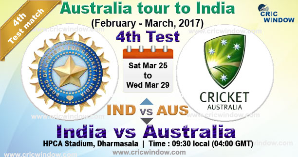 Ind vs Aus 4th Test live