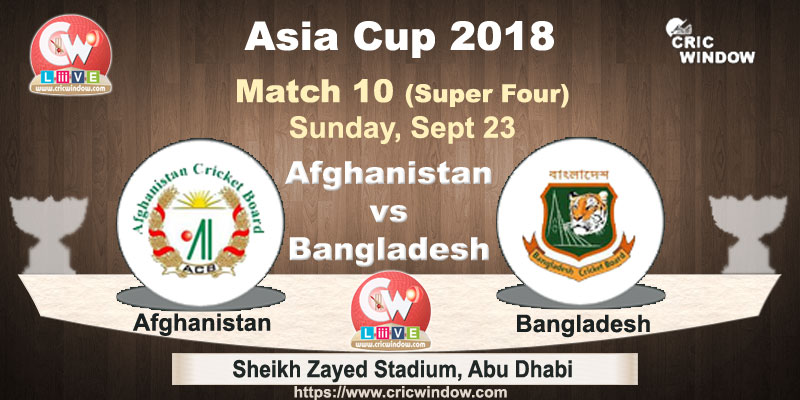 Afgh vs Ban Asiacup live video