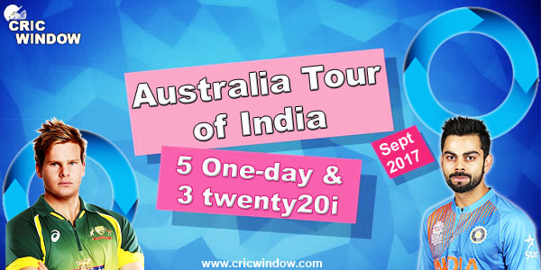 india vs Australia limited overs series 2017