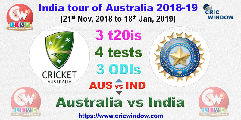 Aus vs Ind all format seires stats 2018-2019