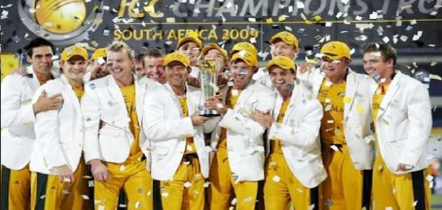 Australia Winner of ICC champions Trophy 2009