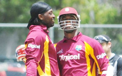 CH Gayle and M Samuels West Indies