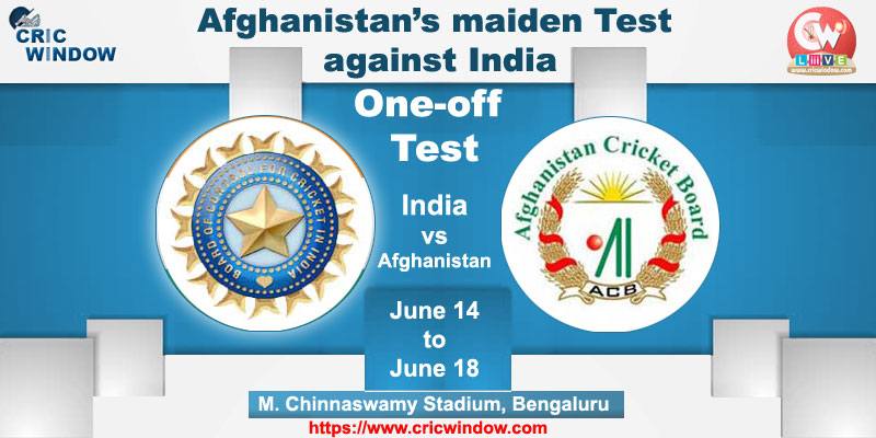 Afghanistan tour of India one-off test in June 2018