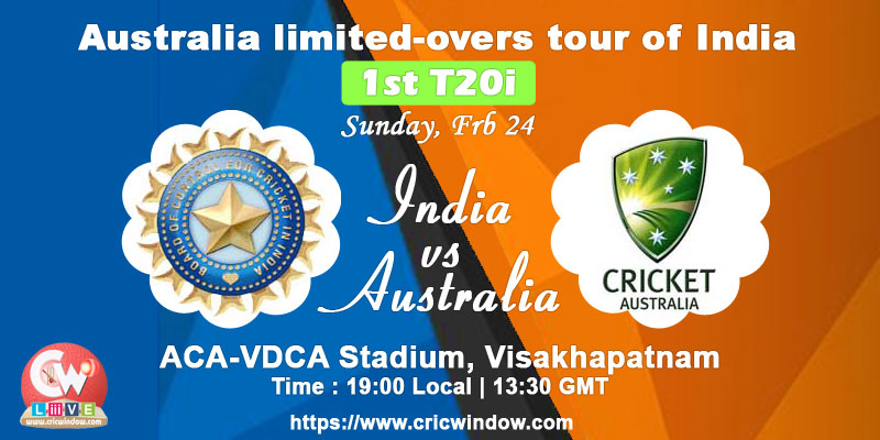Ind vs Aus 1st t20i live match video streaming
