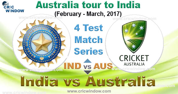 Australia tour to  India Test Series 2017