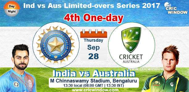 Ind vs Aus 4th one-day live