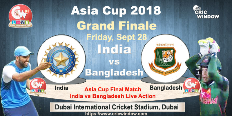 Ind vs Ban Asia Cup final live video streaming