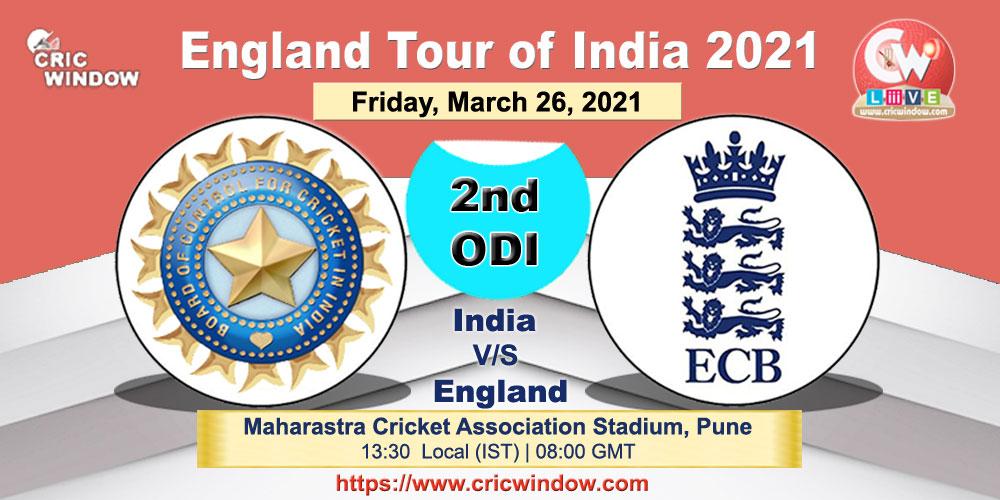 Ind vs Eng 2nd ODI report series 2021 - cricwindow.com