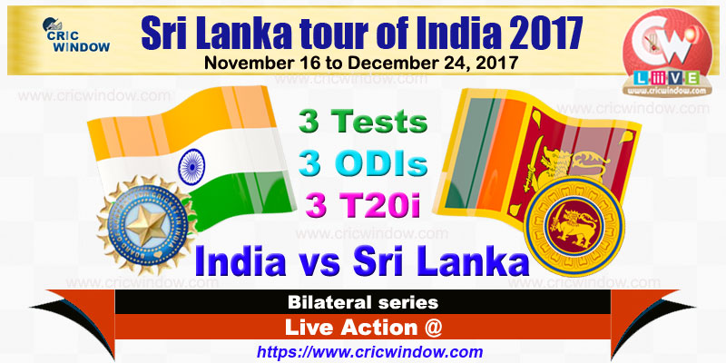 India vs Sri Lanka Series squads 2017