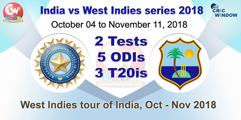 Ind vs WI match results series 2018