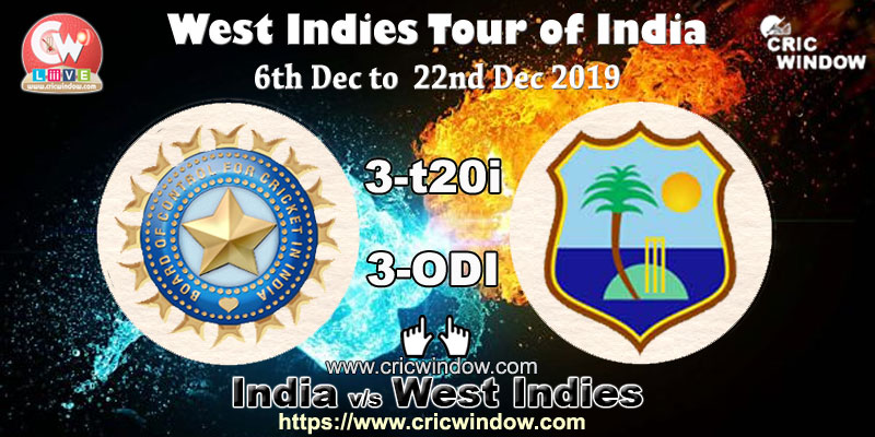 West Indies tour of India live score, videos, schedule, news 2019