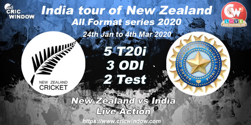 NZ vs Ind match results series 2020