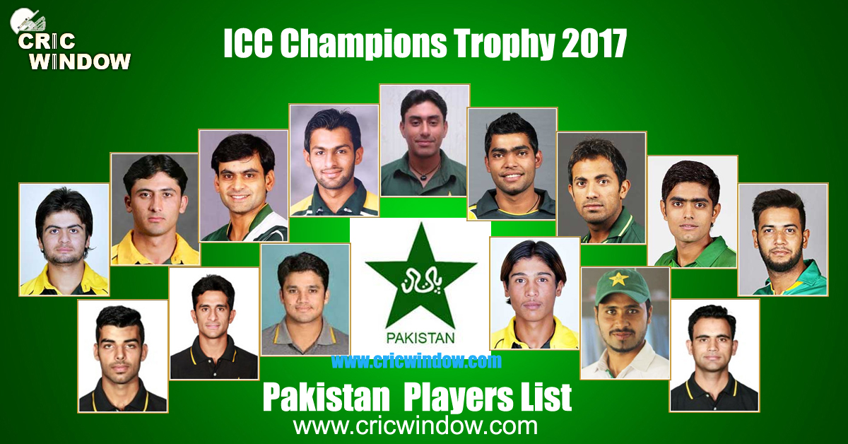 Pakistan squad for champions trophy 2017