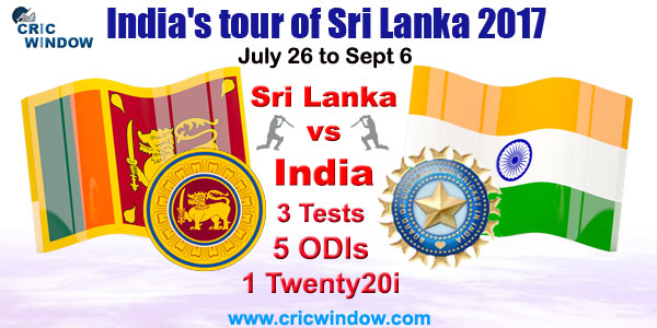 India tour of Sri Lanka Schedule 2017