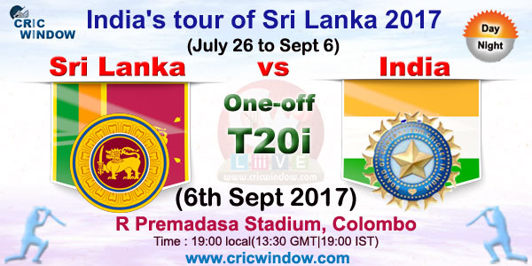 One-off t20i Sri Lanka vs India live action