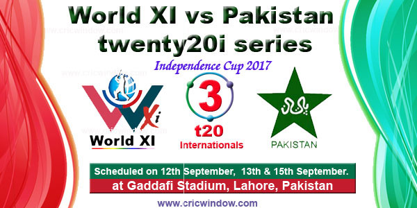 World XI vs Pakistan t20i series 2017