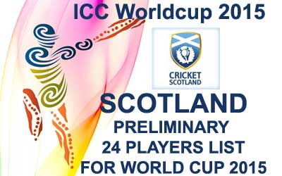 Scotland 24 probables fo worldcup 2015
