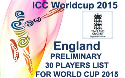 England 30 probables fo worldcup 2015