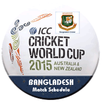 Bangladesh Schedule Icc World Cup 2015 Time Table Match
