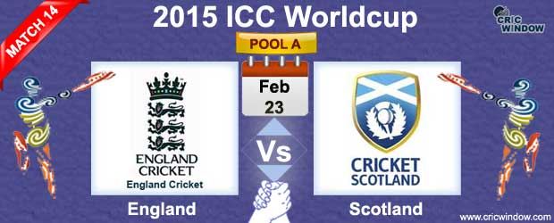 England vs Scotland Match-14