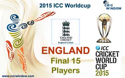 England Final 15 man squad for worldcup 2015