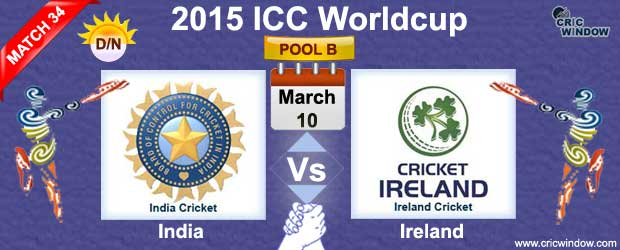 India vs Ireland Preview Match 34 ICC Worldcup 2015 - Cricwindow.com
