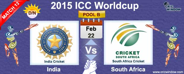 India vs South Africa Match-13