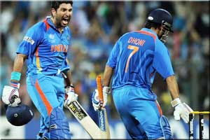 Yuvraj Singh with India 2011 World Cup winner